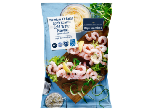 XXL Coldwater Prawns Cooked and Peeled FOP
